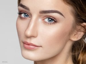Closeup of beautiful female's face