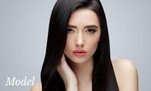 Asian Model with Beautiful Smooth Facial Skin